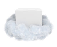 White box in a cloud. Stock Photo