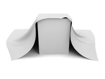 White box covered with a white cloth Royalty Free Stock Photography