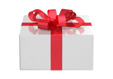 White box, front view Royalty Free Stock Image
