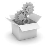 White Box and Gear Stock Photos