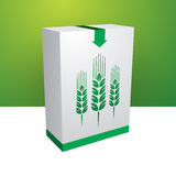 White box. With green grain Stock Images