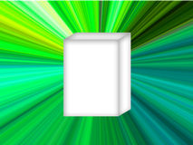 White Box Green Star. White product box with green star background stock illustration