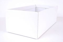 white box isolated on white Stock Photos