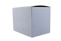 White box isolated on white Royalty Free Stock Photo