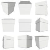 White box isolated on white background Stock Image