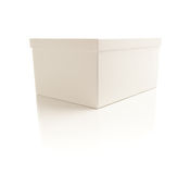 White Box with Lid Isolated on Background Stock Photo