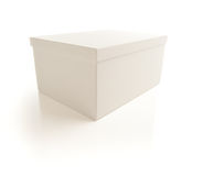 White Box with Lid Isolated on Background Stock Images