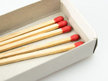 White box with matches Royalty Free Stock Photo