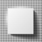 White box mock up model 3D top view with shadow. Vector  blank cardboard open or white paper matchbook container box package template on transparent background Royalty Free Stock Photos
