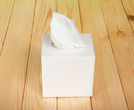 White box with napkins Stock Image
