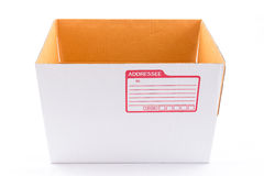 The white box for packaging with shipping Royalty Free Stock Images