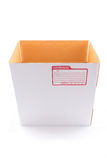 The white box for packaging with shipping. The  of the white box for packaging with shipping from post office Royalty Free Stock Photo