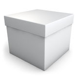 White Box. White plain gift box isolated on white. Clipping path included for easy selection Stock Image