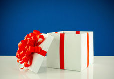 White box with present Stock Photography