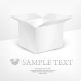 White box realistic vector illustration Stock Photos