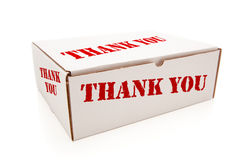 White Box with Thank You on Sides Isolated Royalty Free Stock Images