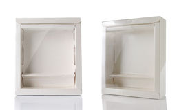 White box with transparent plastic window Royalty Free Stock Images
