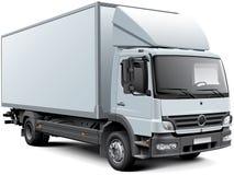 White box truck Stock Photos
