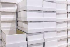 White box at warehouse Royalty Free Stock Photo