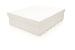White Box With Lid Isolated On Background Royalty Free Stock Images