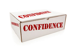 White Box with Confidence on Sides Isolated Royalty Free Stock Images