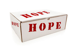 White Box with Hope on Sides Isolated Stock Photo