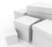 White boxes Stock Images