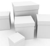 White boxes Stock Image