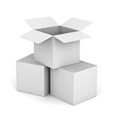 White boxes Royalty Free Stock Image