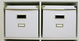 White boxes Royalty Free Stock Photo