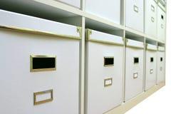 White boxes stock photos