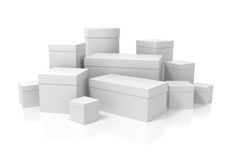 White boxes Stock Photo