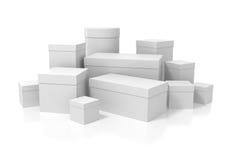 White boxes Stock Photo
