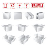White Boxes Collection Royalty Free Stock Photo