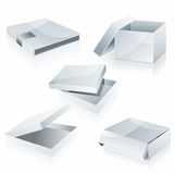White boxes isolated on white Royalty Free Stock Photography