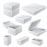 White boxes isolated on white. Vector Stock Image