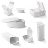 White boxes set Royalty Free Stock Images