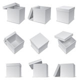 White boxes. Royalty Free Stock Images