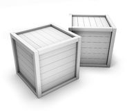White boxes for transportation of goods Stock Photo