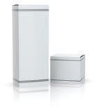 White boxes Royalty Free Stock Photo
