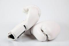 White boxing gloves Royalty Free Stock Photo