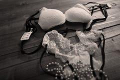 White bra and panties Stock Photos