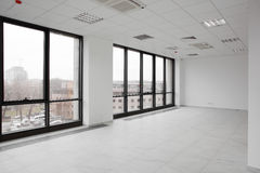 White brand new interior of office Royalty Free Stock Images