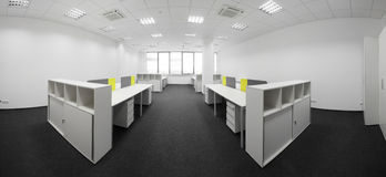 White brand new interior of office Stock Image