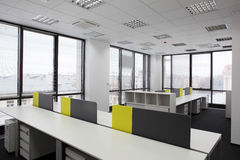 White brand new interior of office Stock Photography