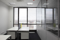 White brand new interior of office Stock Photo