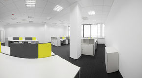 White brand new interior of office Stock Images