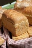 White Bread. Home baked white bread at bazaar Stock Photos