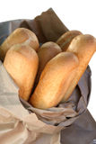 White bread. Bread in the paper bag Royalty Free Stock Photos