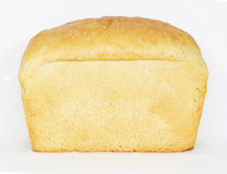 White bread. Loaf isolated on white background royalty free stock image
